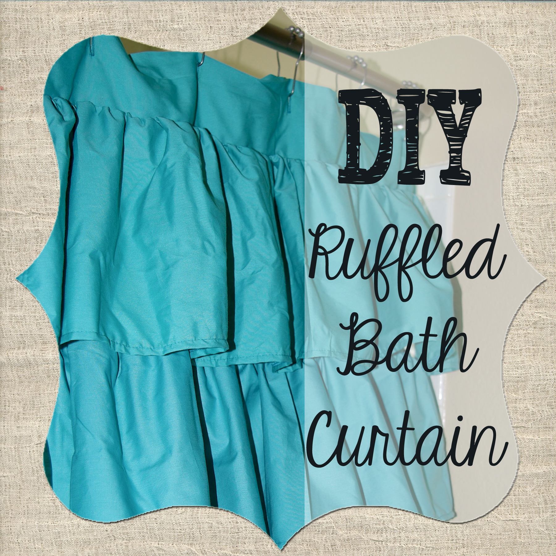 Diy ruffled shower curtain - As The Kids Bathroom Is Slowly Going Through Its Transformation It No Longer Matched The Current Bath Curtain A Few Weeks Ago I Saw A Very Cute Ruffled